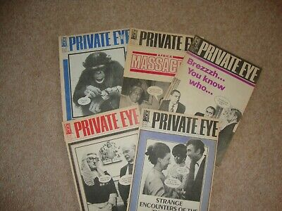 1978 PRIVATE EYE x 5 Issue Numbers 426, 427, 428, 429, 430