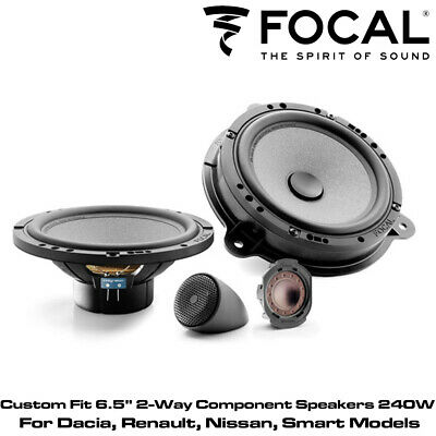 "Focal IS RNS165 Custom Fit 6.5"" 2-Way Component Speakers 240W For Renualt Models"