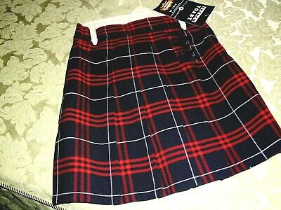 48824e5331 Girl Uniform Skorts Red/Navy Plaid Cotton Blend Pleated School Uniform 16,  18,