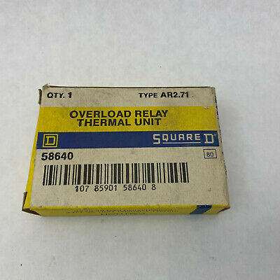 Square D AR2.71 NIB Thermal Overload Heater Lot Of 2 See Pics #B15