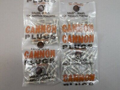 100pcs Cannon Translucent Metal-Clad Tip Jacks w/out Hardware NEW