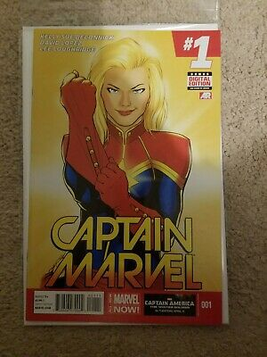 Captain Marvel #1 all new marvel comics. Deconnick lopez. First print