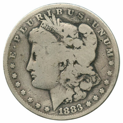 1883 Top 100 VAM-10 Doubled Date, Dash 8 Sextupled Stars Morgan Dollar Cleaned