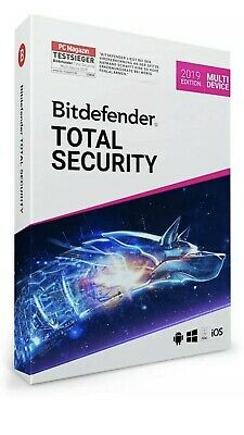 Key 6 Monate; 180 Tage Bitdefender Total Security 2019 5 Geräte