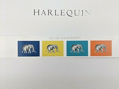 Harlequin Savanna Elephant table Placemats Place Mat - Set of 4 - New