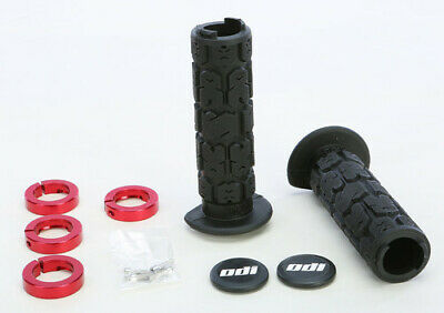NEW ODI Rouge lock grips Honda 250x 300ex Black with red clamps 130mm atv