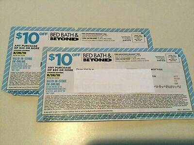 2 Bed Bath And Beyond 10 Off Single Item Copon exp 08/26/19