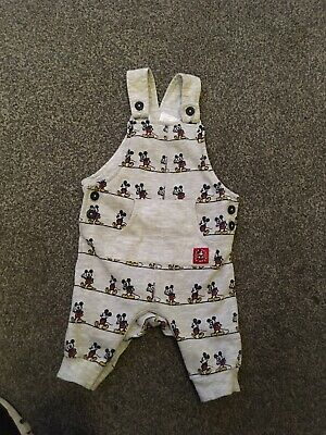 Disney Baby Micky Mouse Dungarees 0-3 Months
