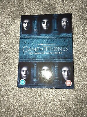 Game of Thrones Season 6 DVD 5 Disc BOXSET and Region 2 2016