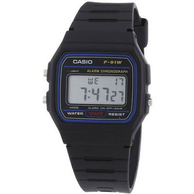 New Genuine Original Casio F-91W Alarm Chronograph Classic Digital Retro Watch*
