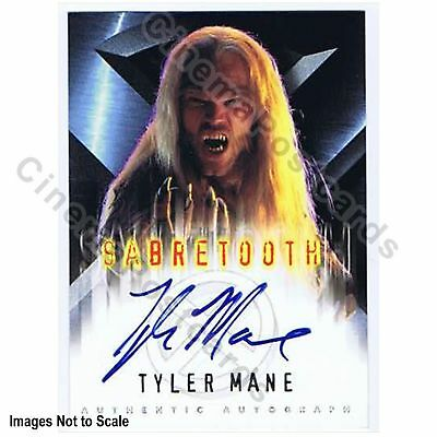 X-Men 1 Movie Tyler Mane Daryl Karolat Sabre Tooth Marvel Autograph Trading Card