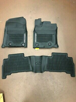 Toyota 4Runner 2016-2019 3Pcs Black All Weather Floor Liners Pt908-89160-02