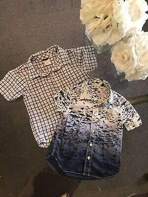 Gap Boy's Blue Orange Button Down Shirt Lot size 4 4T Orig.$64