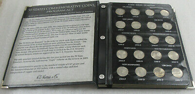 1999 - 2008 State Quarters * Complete P & D Set of 100- Coins in Album