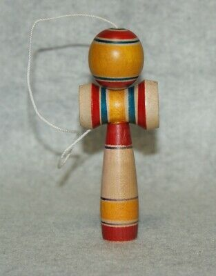 "4.5"" Small Japanese Traditional Crafts Kendama Kokeshi Wooden Doll"