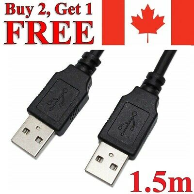 1.5m USB to USB Extension Cable 2.0 Male to Male Data Charger Extender