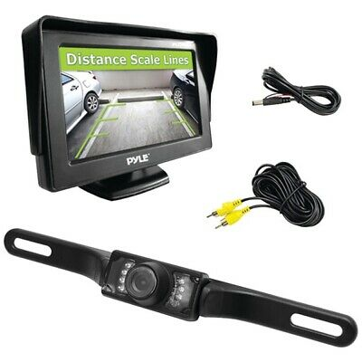 "Pyle PLCM46 4.3"" Monitor & Backup Camera Night Vision Parking Assist System"