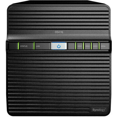 Synology DiskStation DS418j 0.5tb SSD NAS Server 2x240gb Seagate IronWolf Drives
