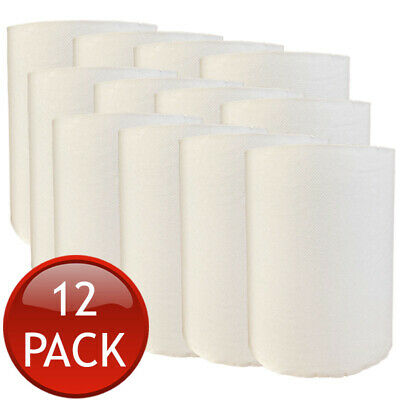 12 x TORK PAPER HAND TOWEL ROLLS MULTI-PURPOSE KITCHEN INDUSTRIAL WHITE BULK 90m