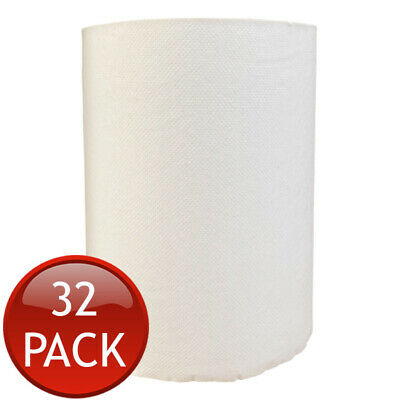 32 x TORK PAPER HAND TOWEL ROLLS MULTI-PURPOSE KITCHEN INDUSTRIAL WHITE BULK 90m