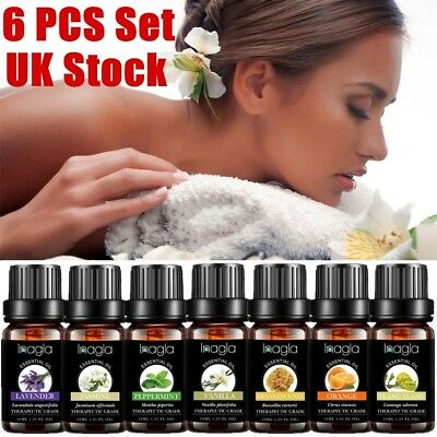 6Pcs Set 10ml Aromatherapy Essential Oils Natural Pure Organic Oil Fragrances UK