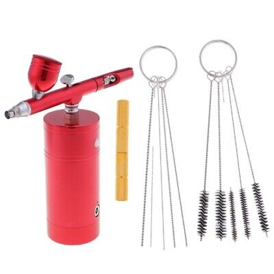 1X(Dual Action Airbrush Kit Compressor Air Brush With 11Pcs Cleaning AccessA3T7)