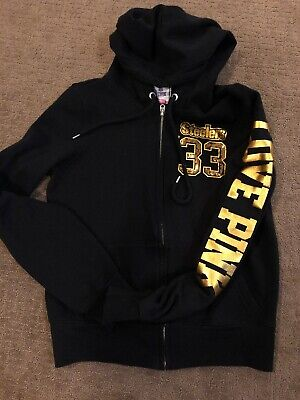 detailed look d8630 e42a7 VICTORIA SECRET PINK EUC PITTSBURGH STEELERS TSHIRT HOODIE ...
