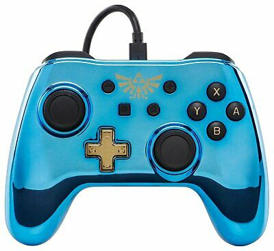 Wired 8ft Removable USB Cable Controller for Nintendo Switch - Chrome Zelda