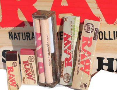 RAW ROLLING PAPERS+ROLLER MACHINE+TIPS+ORG PAPERS - Bundle #2