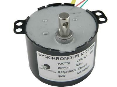 CHANCS AC Motor 220V 50KTYZ 20RPM Synchronous Geared 6W Torque...