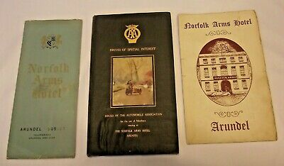 1930'S Drives Of Special Interest AA Automobile Book Norfolk Arms Hotel Arundel