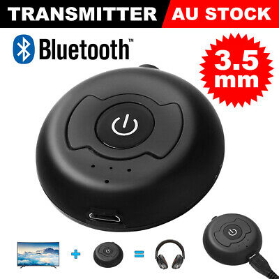 Bluetooth Transmitter Wireless Multi Points Audio Splitter Music Adapter Black
