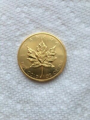1981 Canadian 1 Oz. Gold Maple Leaf Coin Uncirculated