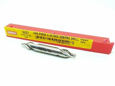 Dormer 2mm Double Ended Countersink Centre Drill A201 2.00 x 6.30mm HSS #FB1
