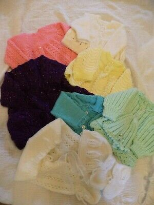 Job Lot Of New Hand Knitted  Clothes 0-3 Months Baby