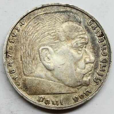 Alemania 1935 5 Mark Marcos Moneda Plata Mbc+