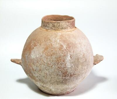 Large Holy Land  Early Bronze Age Amphora with ledge handles: Circa 3000 BC.
