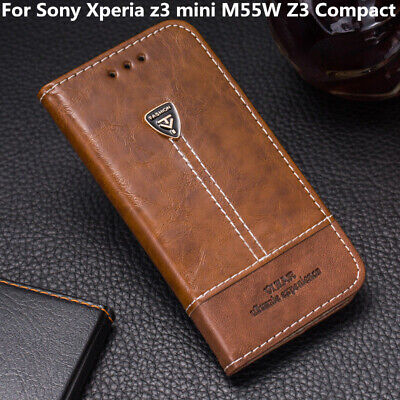 For Sony Xperia z3 mini M55W Z3 Compact Flip Leather Cover Stand Wallet Case