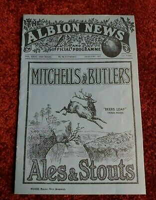 WEST BROMWICH ALBION v ASTON VILLA  FA. CUP 3rd RD. JAN. 1932 (REPRODUCTION)