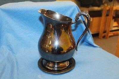 Antique Vintage 1883 FB Rogers Silver Co Water Pitcher with Ice Lip  #3707