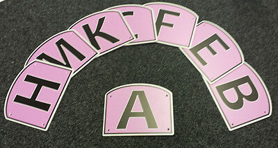 PINK Dressage Arena Markers / Letters x 12 - SPECIAL COLOUR!