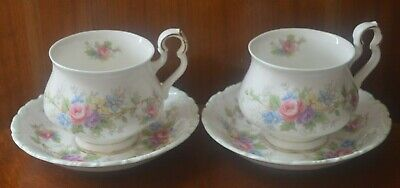 Royal Albert Colleen TWO cups and saucers - complements brambly hedge
