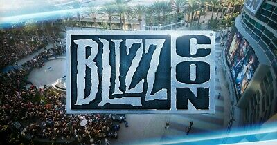 Blizzcon 2019 Pass W Horde Statue And Virtual Code/Goodies