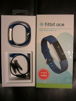 Fitbit Ace Kids Wrist Activity Tracker Electric Blue Band w/ Charger FB411SRBU