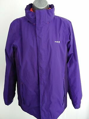 Girls Regatta Purple And Pink Fleece Coat With Hood In Collar 15-16 Yrs 176