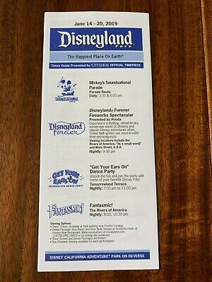 Disneyland California Adventure DCA Times Guide Summer June 2019 DISNEY STAR WAR