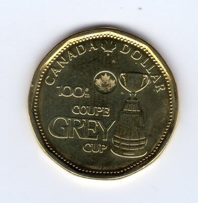 2012 Canada 1$ Coin Loonie - CFL 100th Grey Cup Uncirculated - from Roll