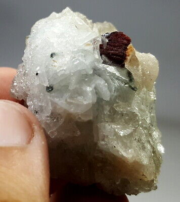 39 Grams Very Amazing Extremely Rare Tantalite With Albite Specimen From Afg