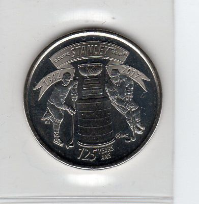 1892-2017 Canada 25 Cents Nickel Coin 125th An. Stanley Cup Uncirculated f.Roll