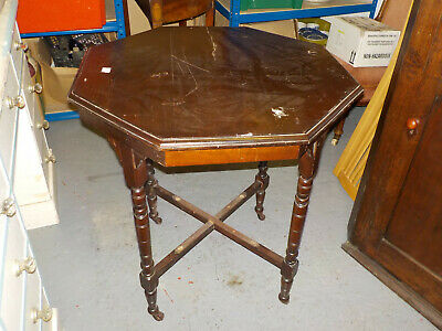 Early 20th C Mahogany Octagonal Occasional Table
